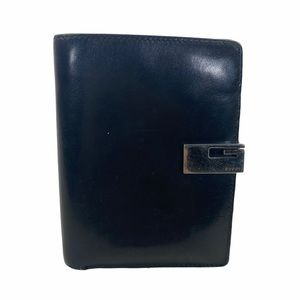 Gucci Wallet Black Leather Canvas Card holder